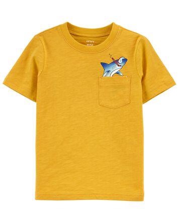 T-shirt avec poche et imprimé requi...