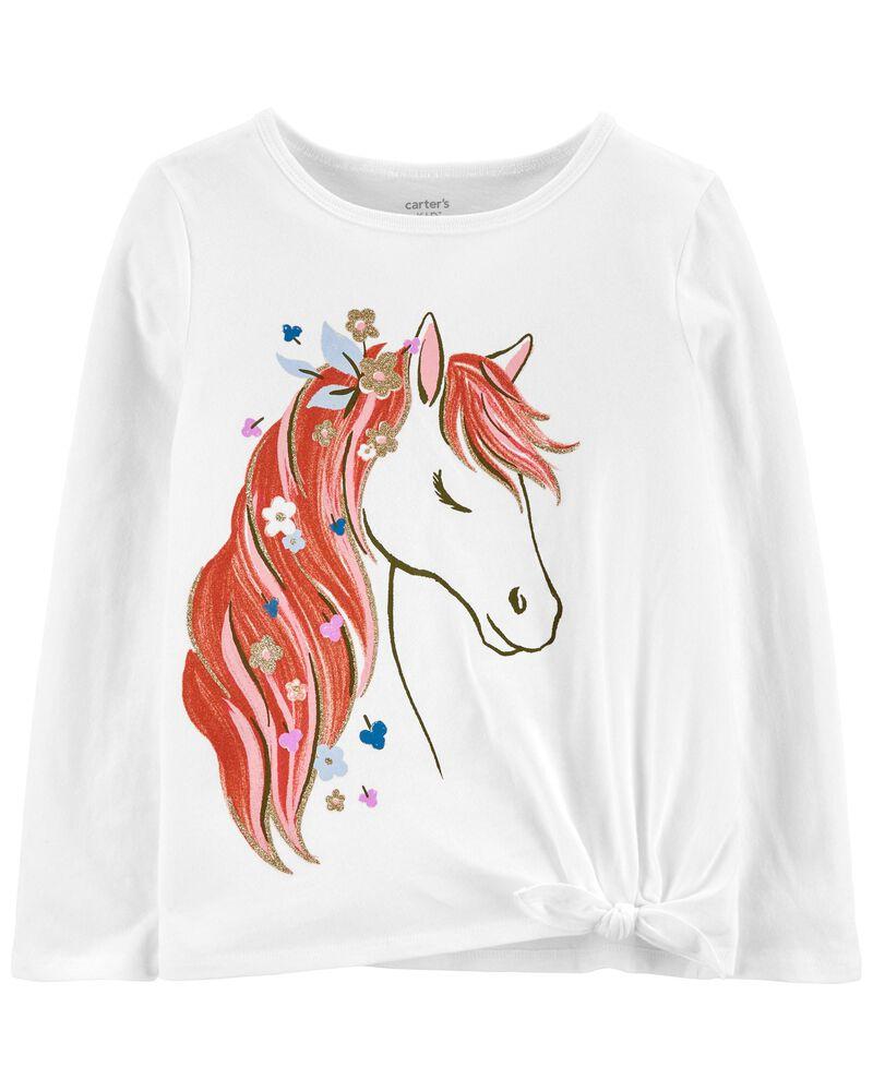 T-shirt en jersey à cheval, , hi-res