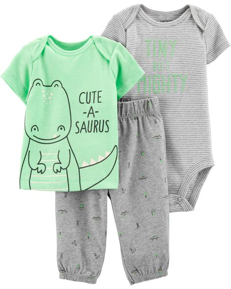 3-Piece Dinosaur Little Character Set