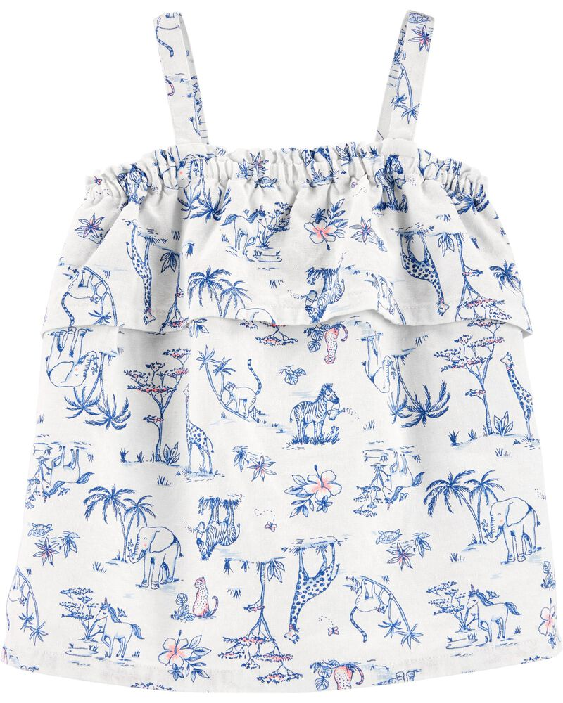 Safari Animal Linen Tank, , hi-res