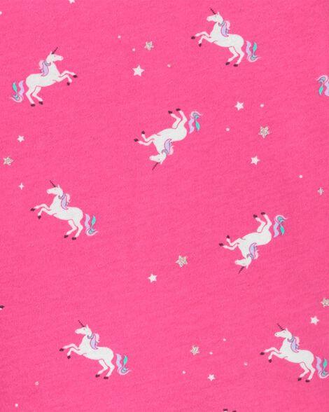 Ensemble de deux robes en jersey à motif de licornes et d'étoiles