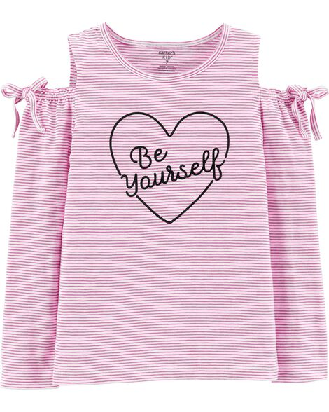 Be Yourself Cold Shoulder Top