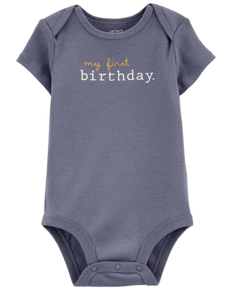 My First Birthday Original Bodysuit, , hi-res