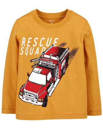 T-shirt en jersey Firetruck Rescue...