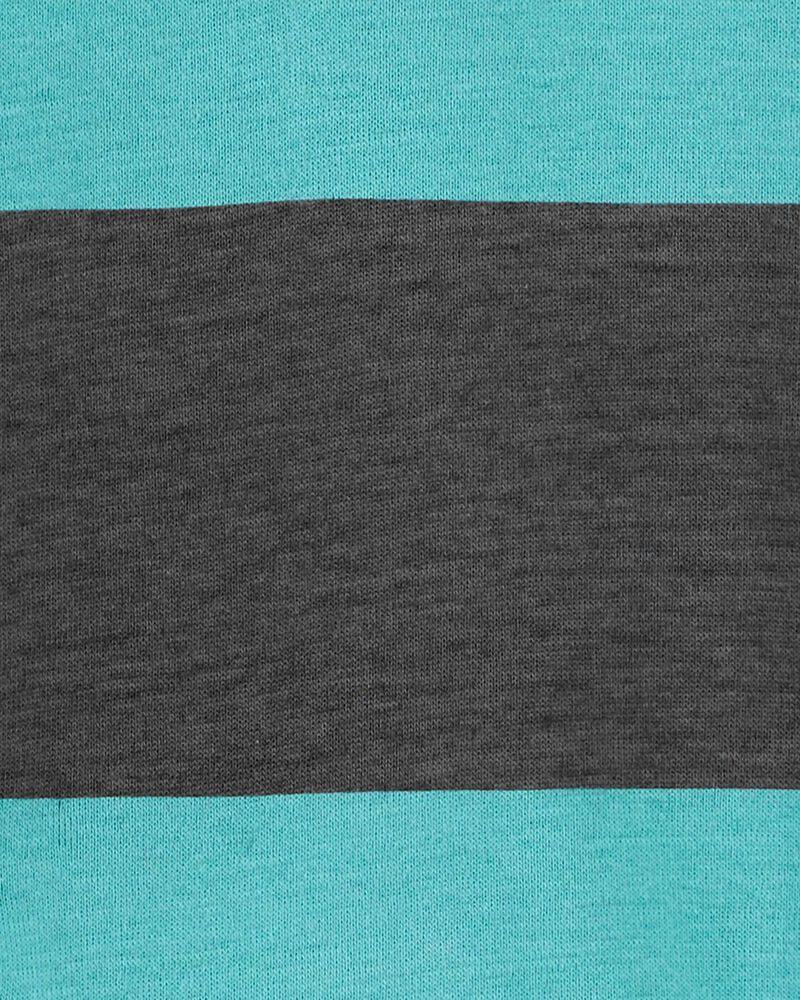 2-Piece Striped Henley Bodysuit Pant Set, , hi-res