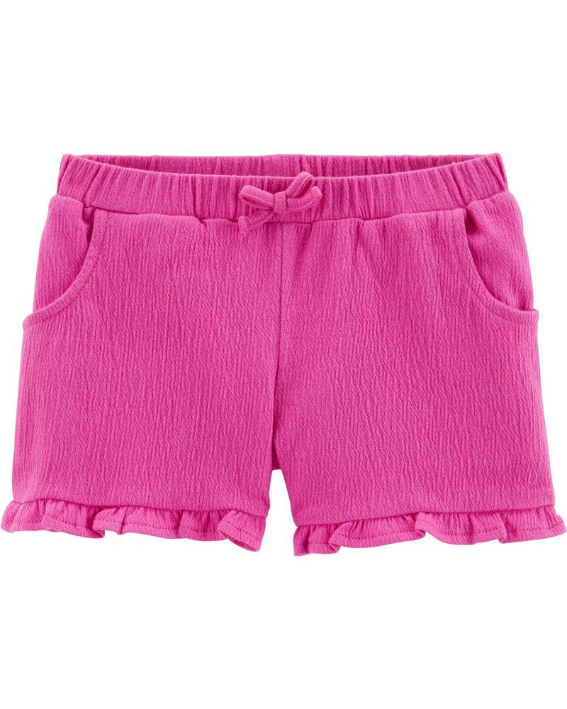 Ruffle Crinkle Jersey Shorts, , hi-res