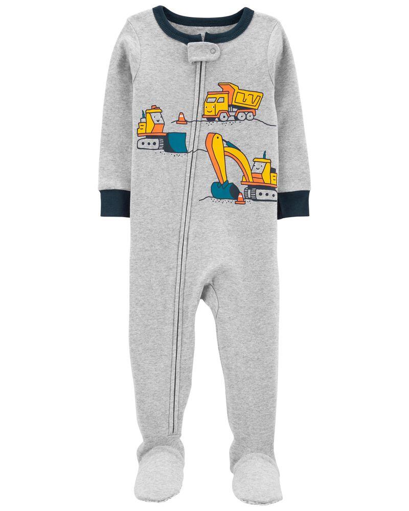 1-Piece Construction 100% Snug Fit Cotton Footie PJs, , hi-res