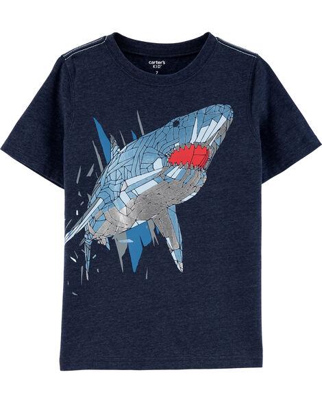 Shark Snow Yarn Tee