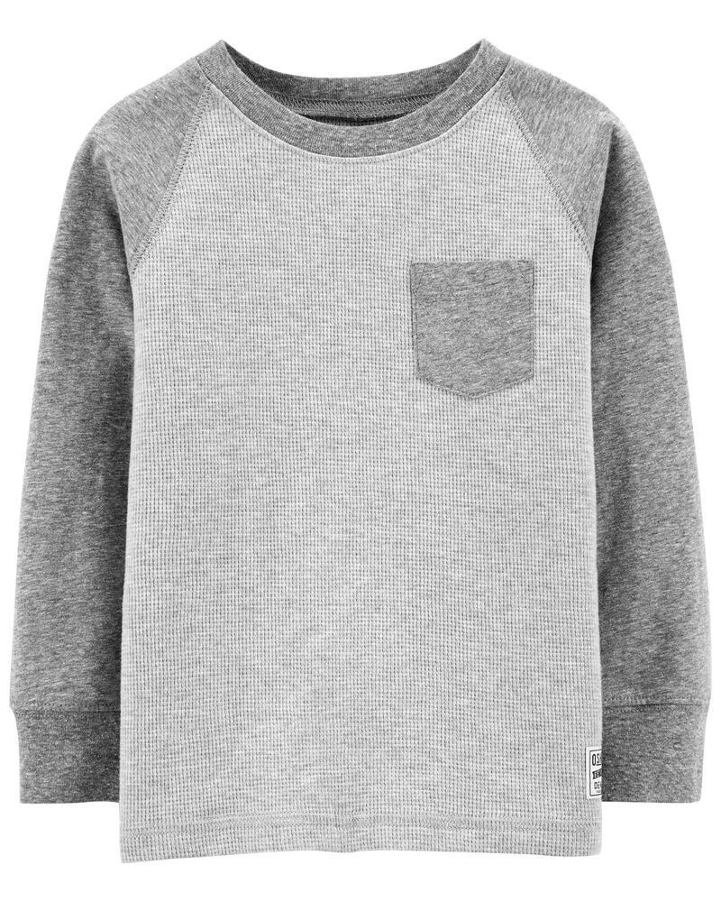 Raglan Thermal Pocket Tee , , hi-res