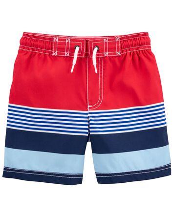 Striped Swim Trunks