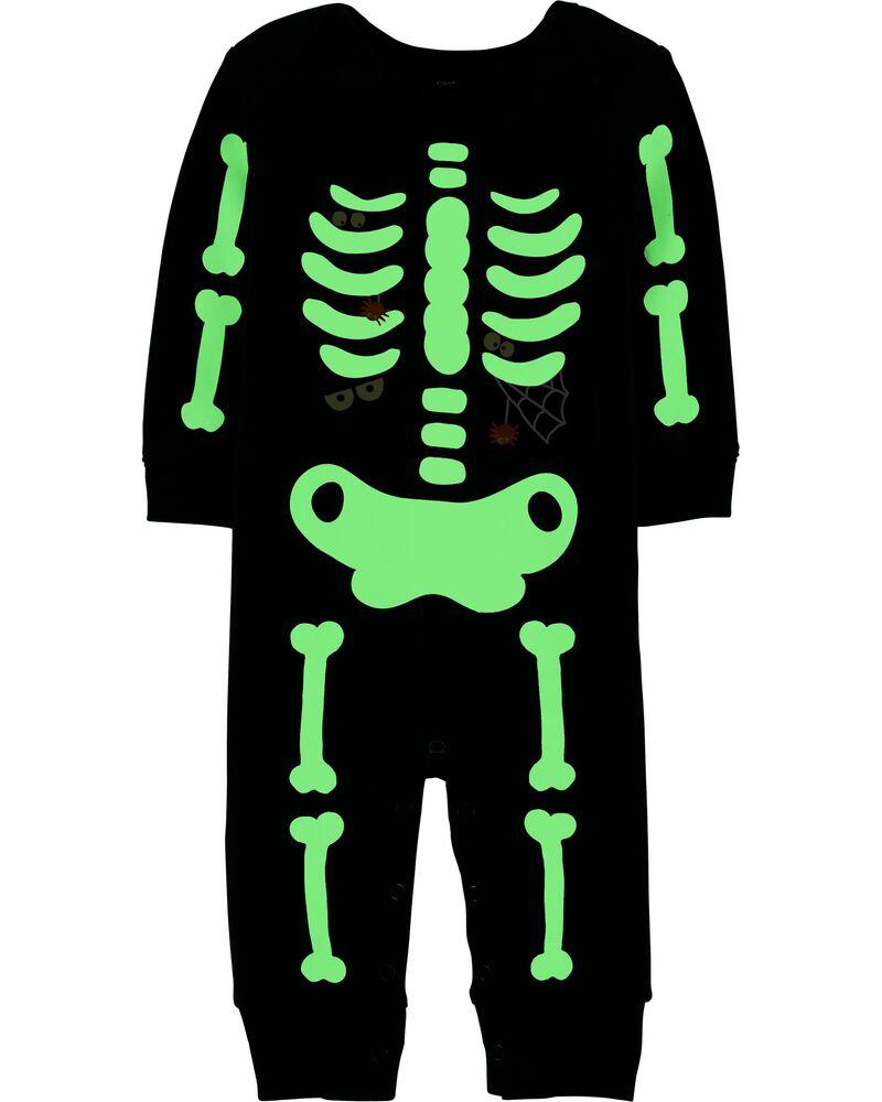 Combinaison avec squelette d'Halloween qui brille dans le noir, , hi-res