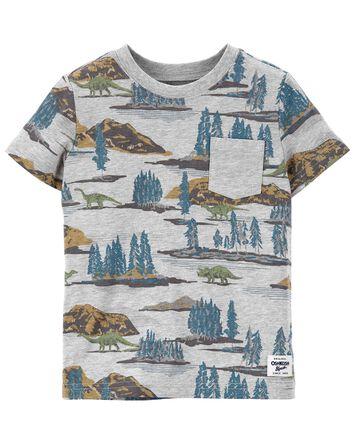 T-shirt à poche et dinosaure