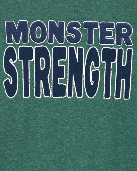 T-shirt chiné à monstre