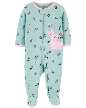 Bunny 2-Way Zip Cotton Sleep & Play