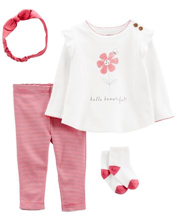 4-Piece Hello Beautiful Outfit Set