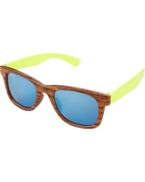 Classic Wood & Neon Sunglasses