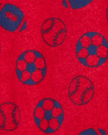 1-Piece Sports Fleece Footie PJs