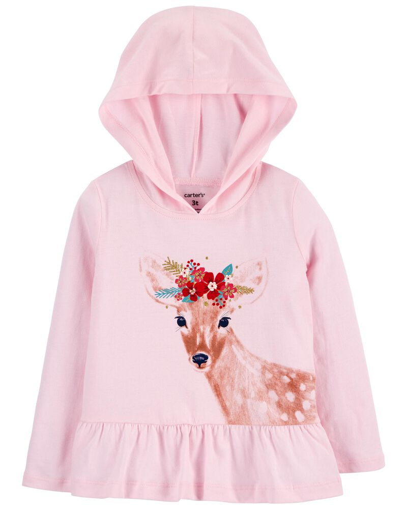 Deer Hooded Jersey Tee, , hi-res