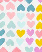 1-Piece Hearts 100% Snug Fit Cotton Footie PJs, , hi-res