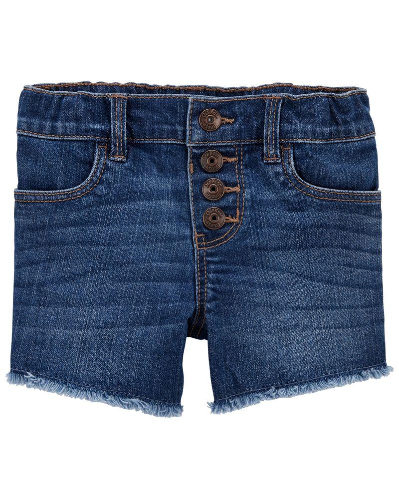 Stretch Denim Shorts in Blue Sky Wash, , hi-res
