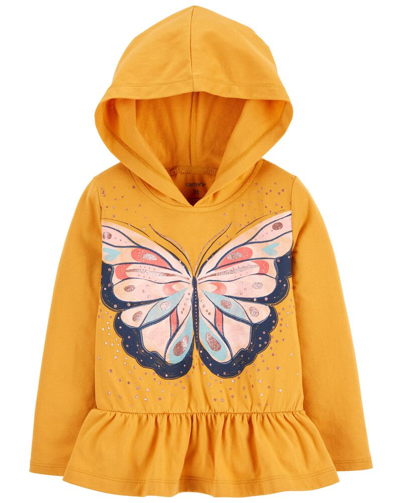 Butterfly Hooded Jersey Tee, , hi-res