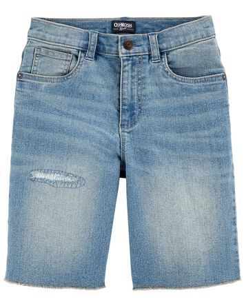 Stretch Denim Carpenter Shorts