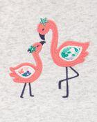 2-Piece Flamingo Bodysuit & Short Set, , hi-res