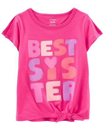T-shirt en jersey Best Sister Ever