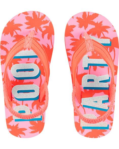 Pool Party Flip Flops