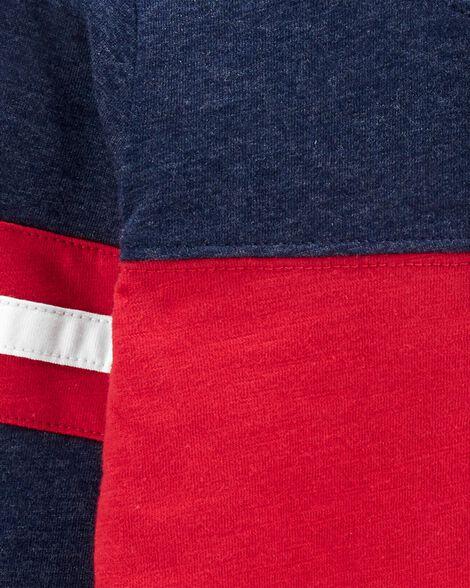 Colourblock Snow Yarn Henley Bodysuit