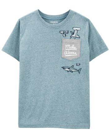 Shark Pocket Tee