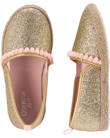OshKosh Gold Slip-On Espadrilles