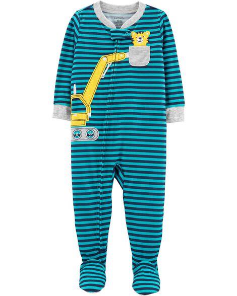 Pyjama 1 pièce en polyester à camion de construction