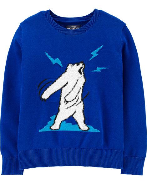 Chandail ours polaire qui danse