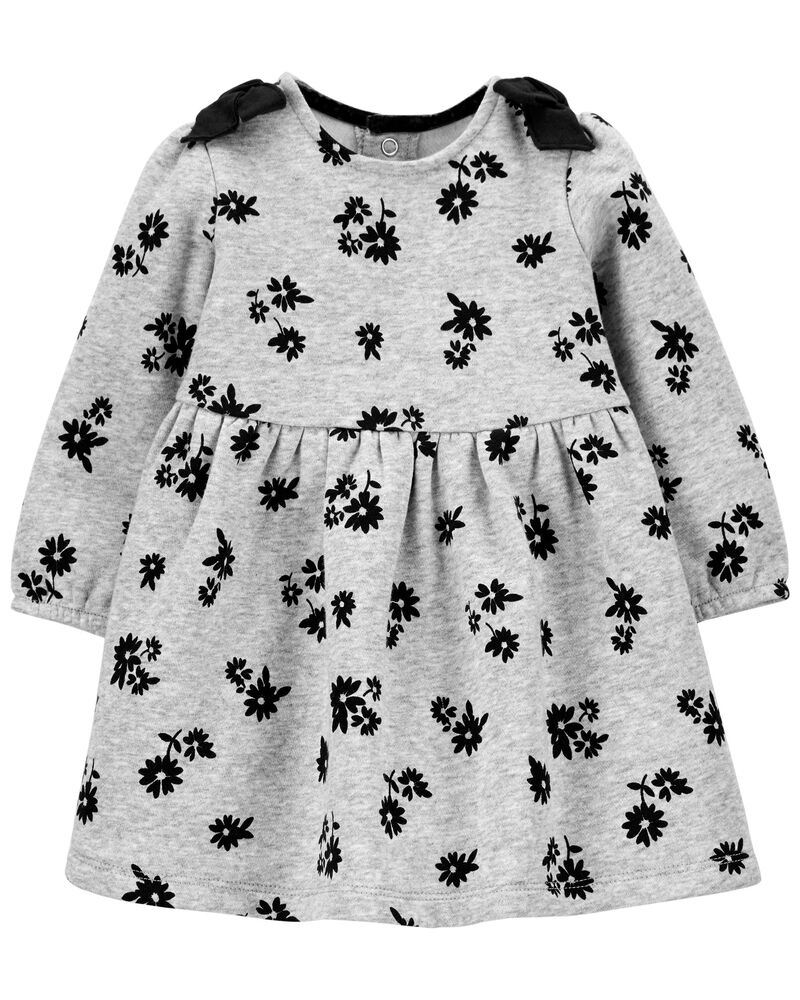 Floral Cozy Bow Dress, , hi-res
