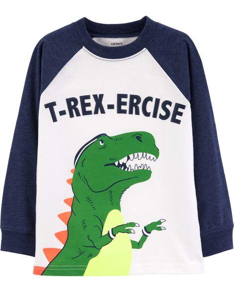 T-shirt de style raglan à dinosaure
