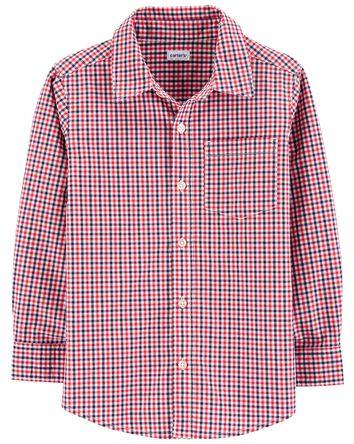 Chemise boutonnée à motif vichy