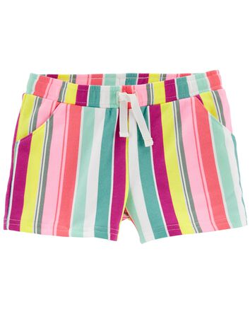 Striped Pull-On French Terry Shorts