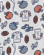 Pyjamas 4 pièces en coton ajusté à football, , hi-res