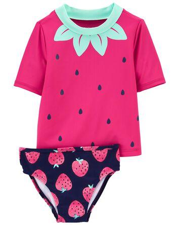 2-Piece Strawberry Rashguard Set