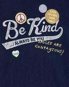 Be Kind Scoop Hem Tee, , hi-res