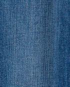 Stretch Denim Tie-Belt Overalls, , hi-res