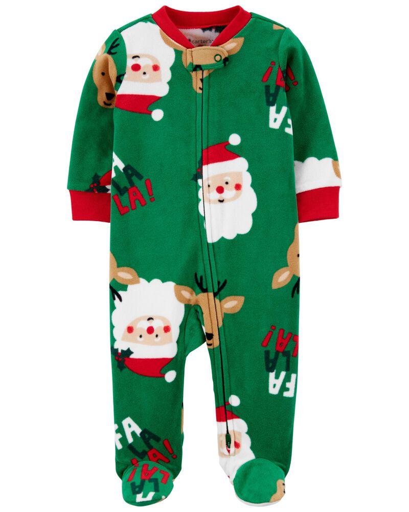 Santa Zip-Up Fleece Sleep & Play, , hi-res