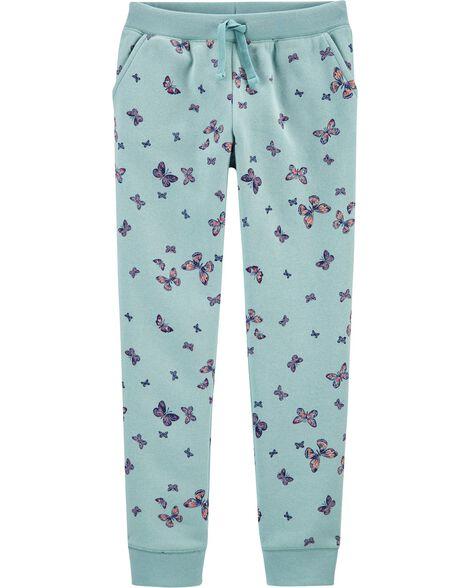 Pantalon de jogging en molleton à logo et papillon