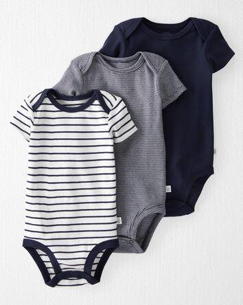 3-Pack Organic Cotton Rib Bodysuits