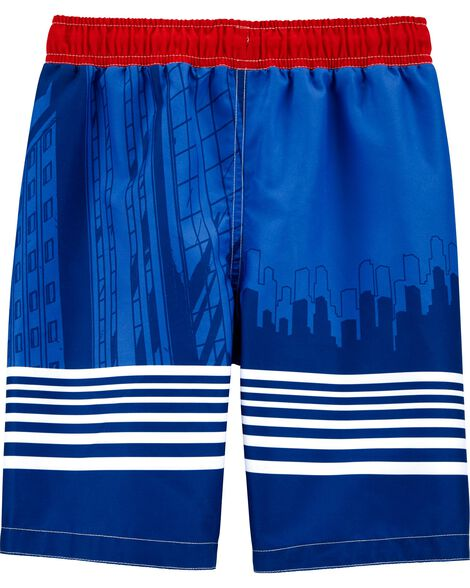 Captain America Swim Trunks