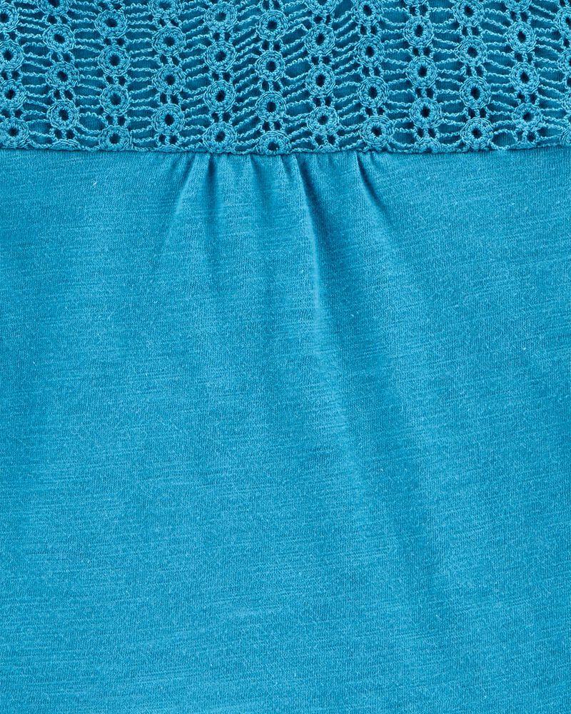 Haut en jersey à basque crochetée, , hi-res