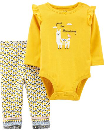 2-Piece Llama Bodysuit Pant Set