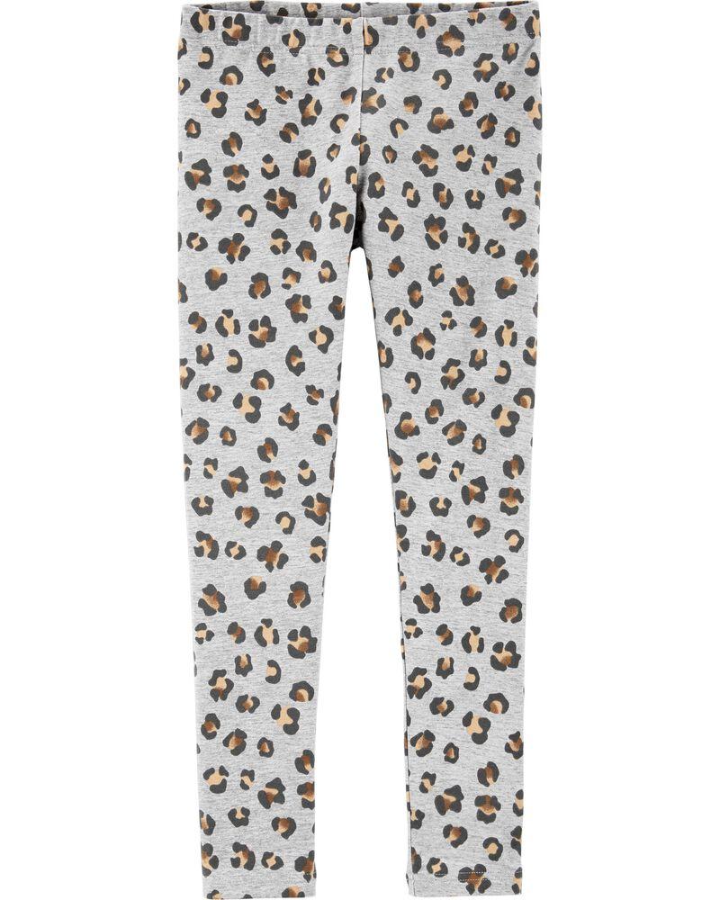 Leopard Print Leggings, , hi-res