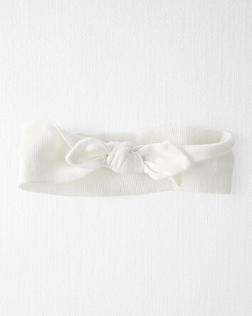 Organic Cotton Rib Bow Headwrap